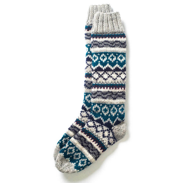 Long Hand Knitted  Wool Boot Socks - BIBICO
