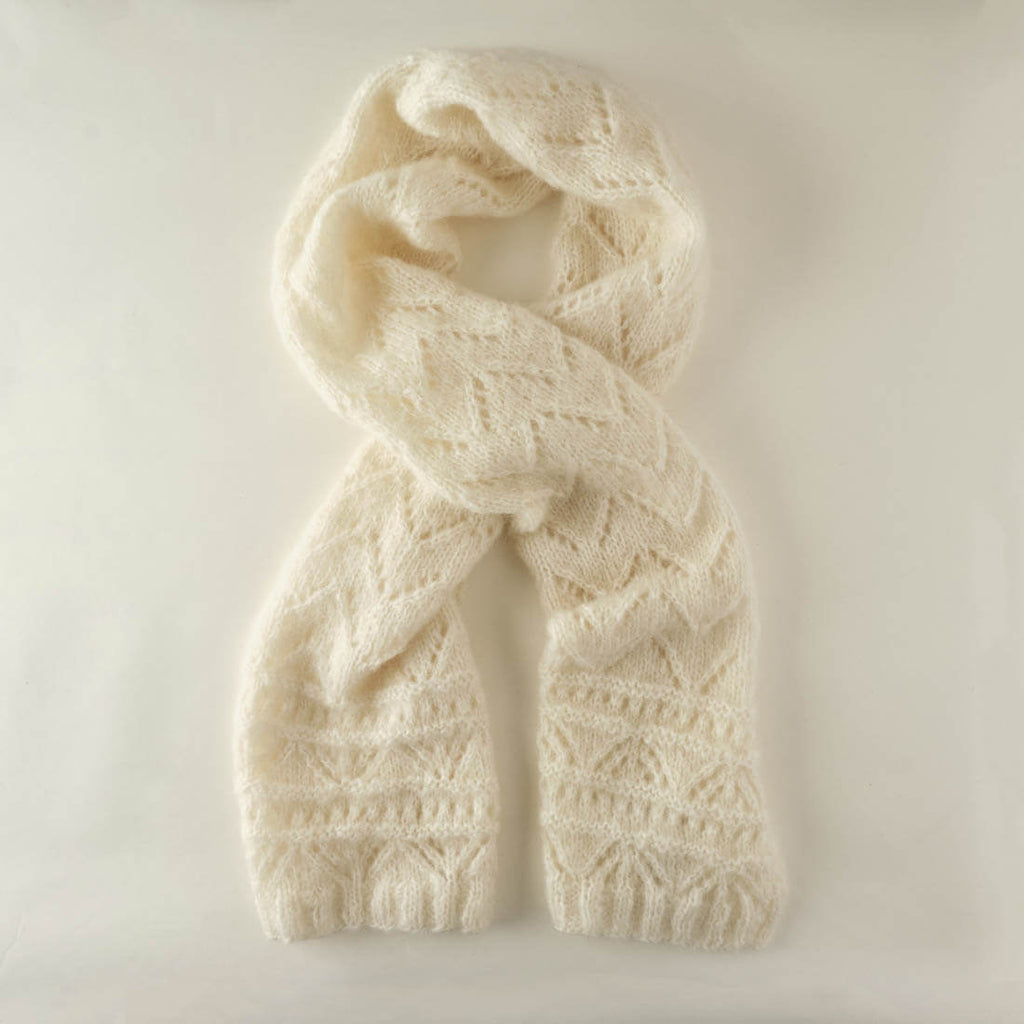 Ida Mohair Scarf - Cream Colour