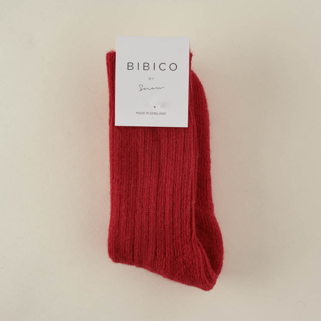 Red Alpaca Walking Socks