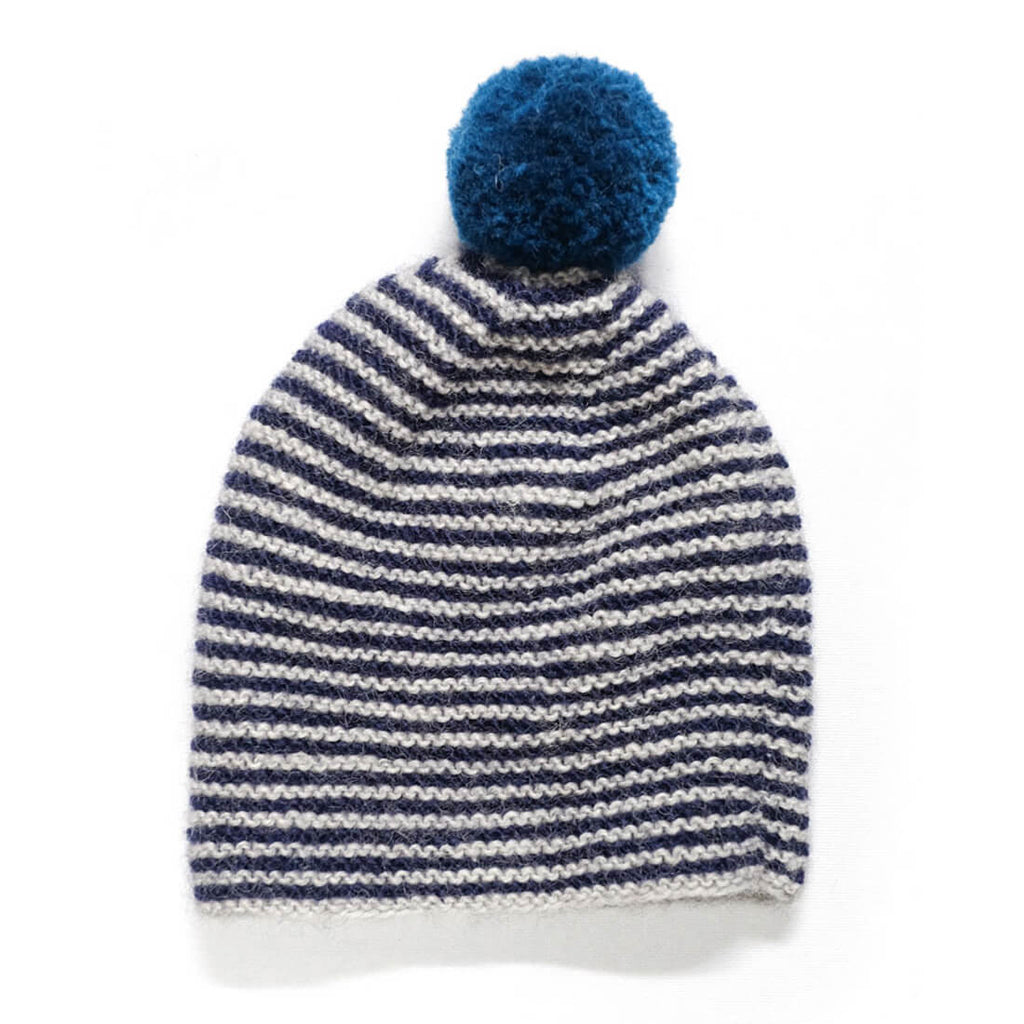 Striped Wool Bobble Hat - BIBICO