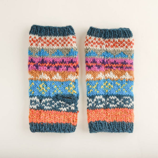 Ulla Fair Isle Finglerless Wool Mittens