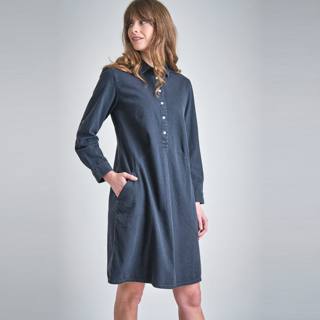 Alexa Black Denim Shirt Dress dress BIBICO