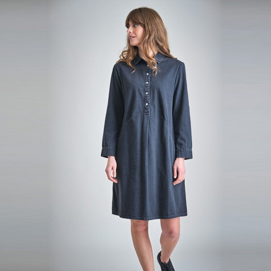 Alexa Black Denim Shirt Dress Bibico