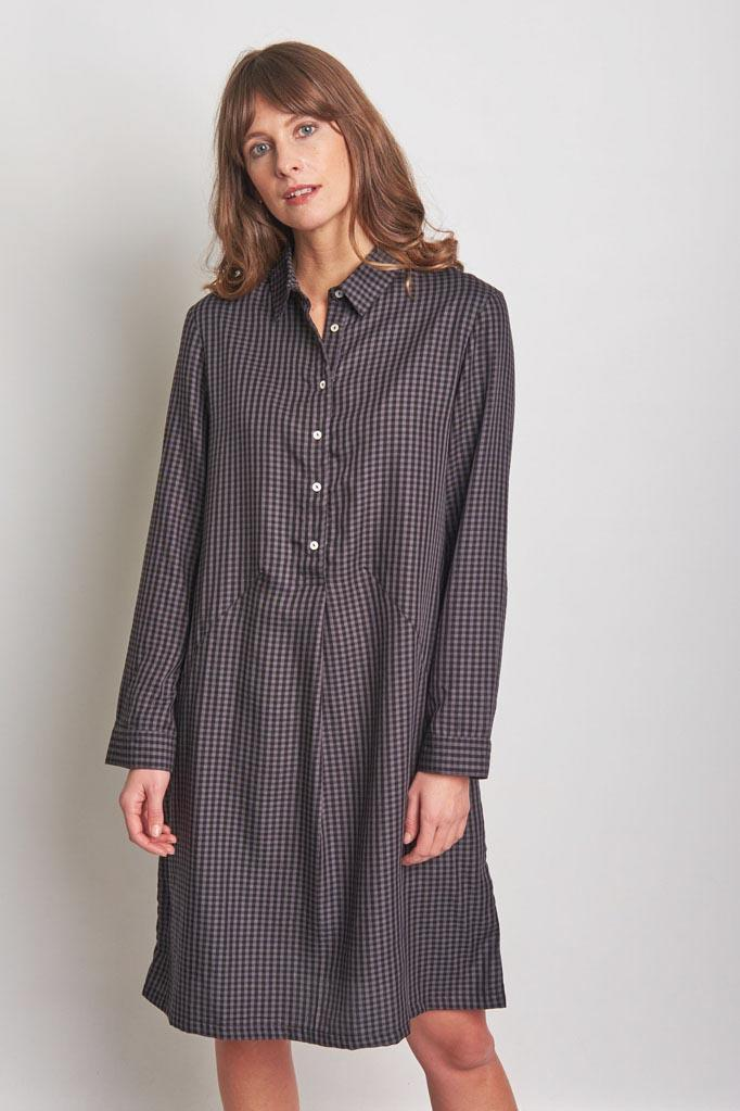 Alexa Check Shirt Dress - BIBICO