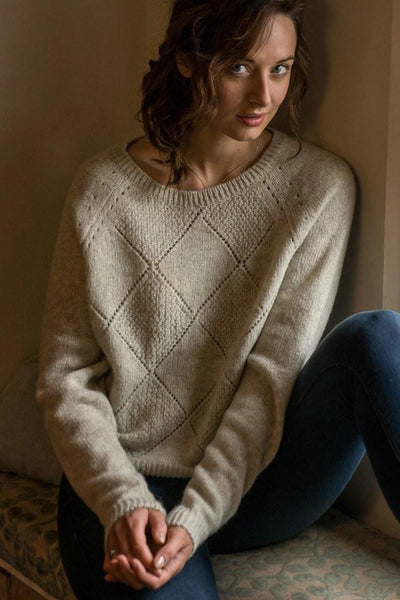 All diamonds merino sweater - BIBICO