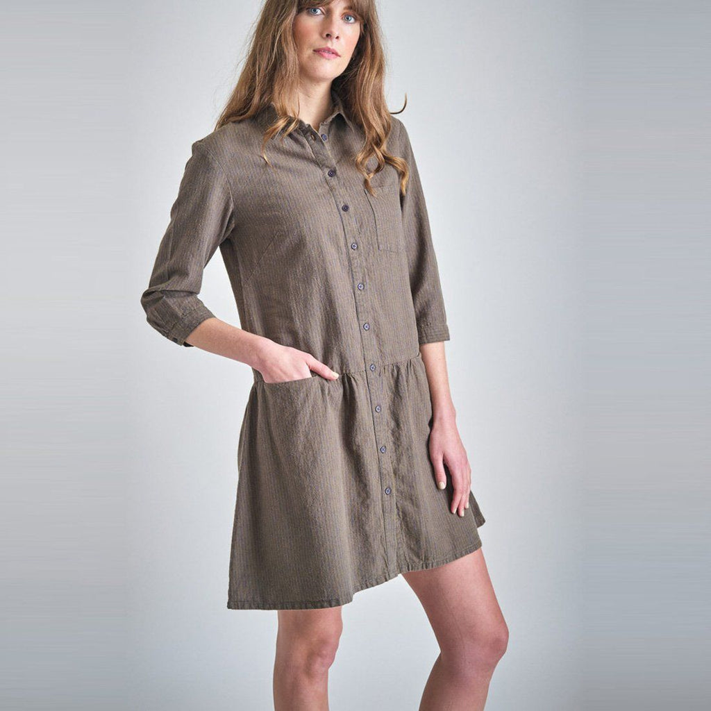 Amber Striped Shirt Dress dress BIBICO