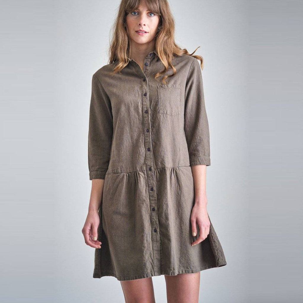 Amber Striped Shirt Dress Bibico
