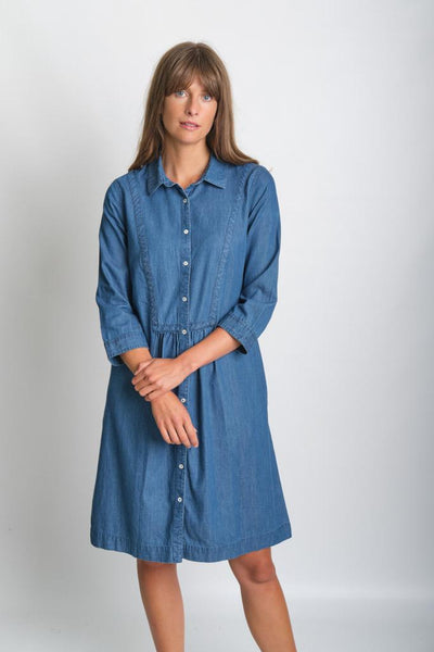 Amelie Denim Shirt Dress - BIBICO