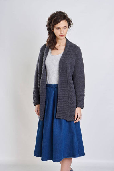 Aurora Long Wool Cardigan - BIBICO