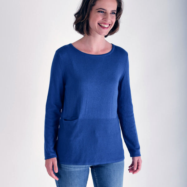 Nora Blue Organic Cotton Jumper