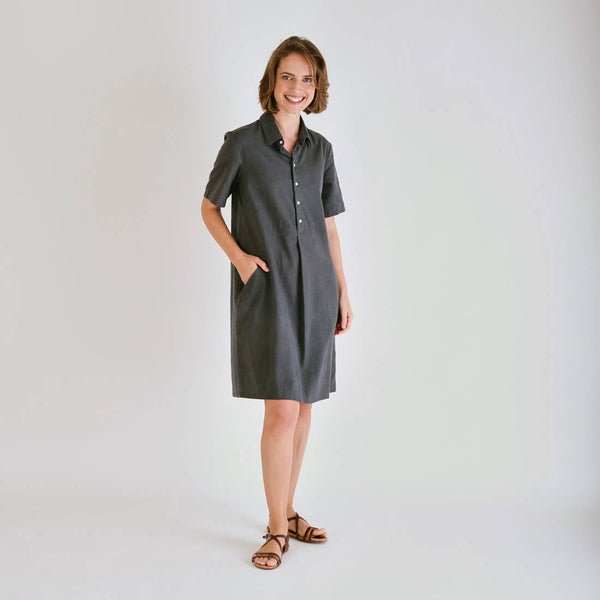 Joe Grey Linen Shirt Dress