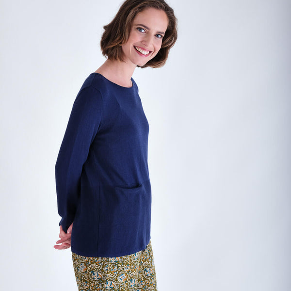 Organic Cotton Jumper Navy Colour