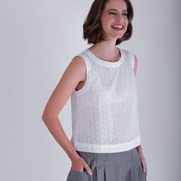 Pipa Broderie Anglaise Sleeveless Top