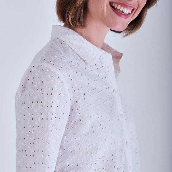 Irina Broderie anglaise blouse - Off white