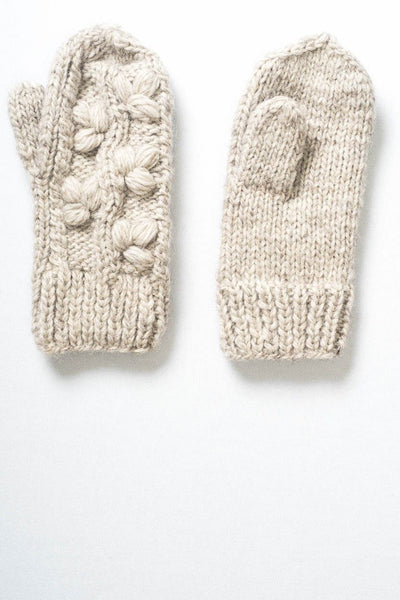 Cable Knit Wool Mittens - BIBICO