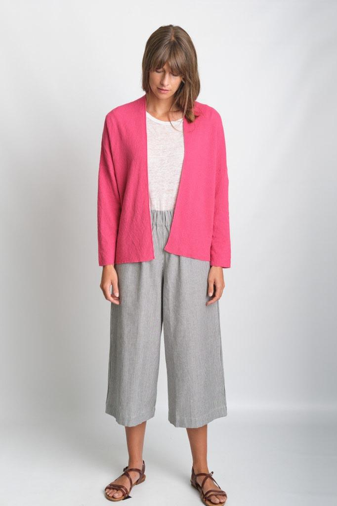 Cara Watermelon Cotton Open Cardigan - BIBICO