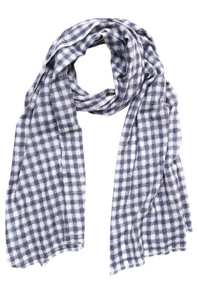 Checked Wool Scarf - BIBICO