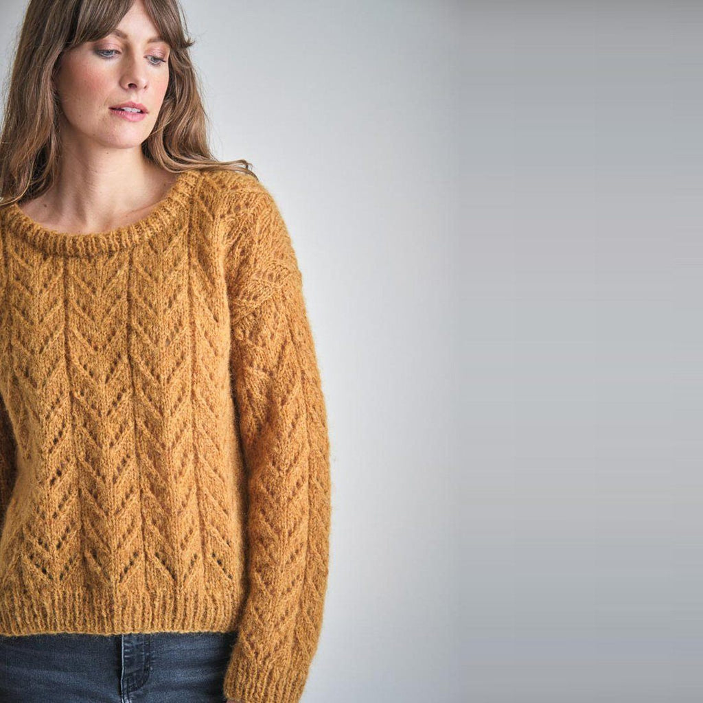 Christy Hand Knitted Mohair Sweater knitwear bibico