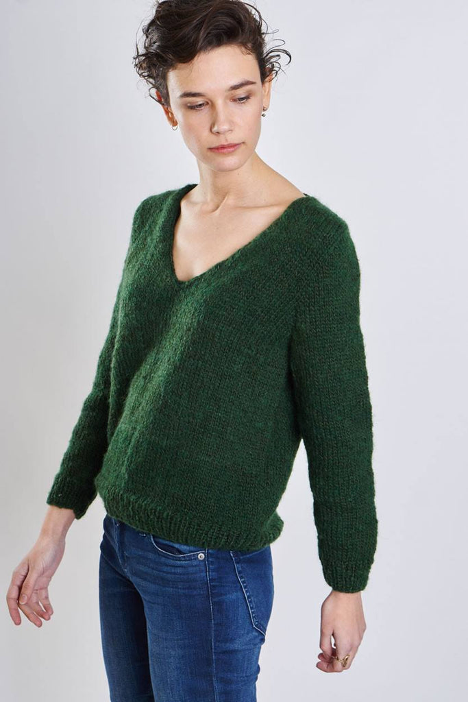 Clara Green Knitted Jumper - BIBICO
