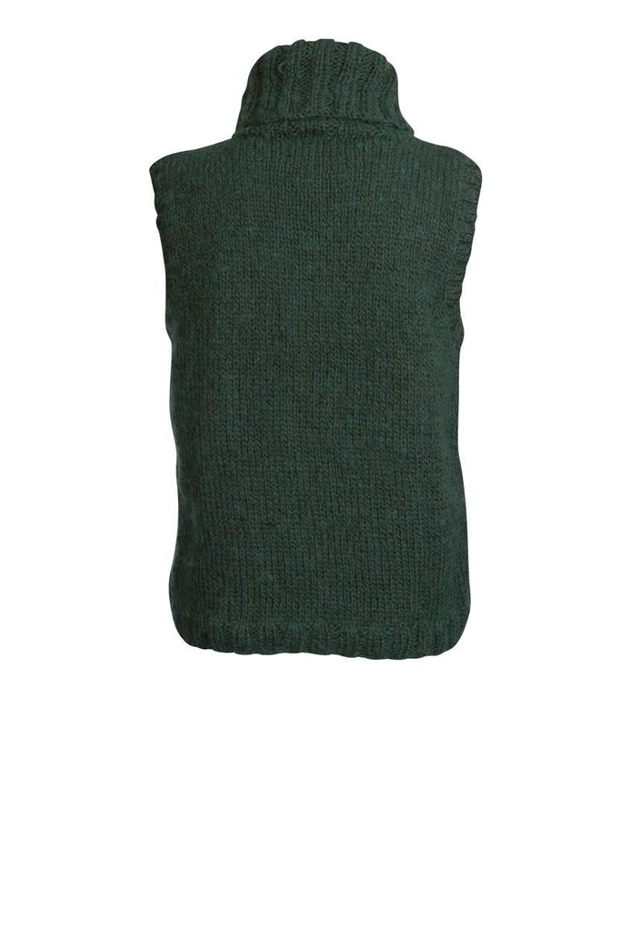 Clara Hand Knitted Sleeveless Cardigan - BIBICO