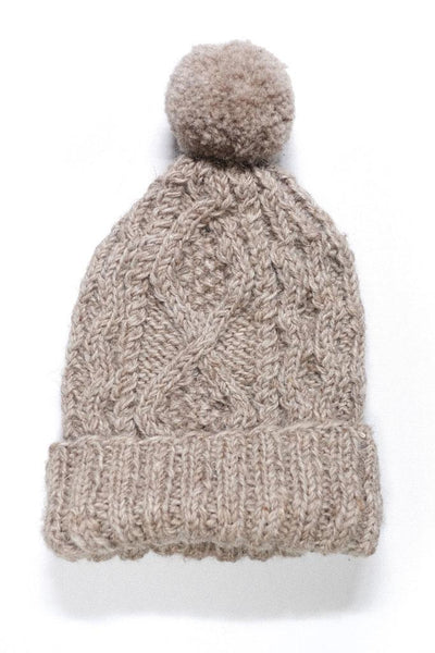 Classic Knitted Wool Bobble Hat - BIBICO