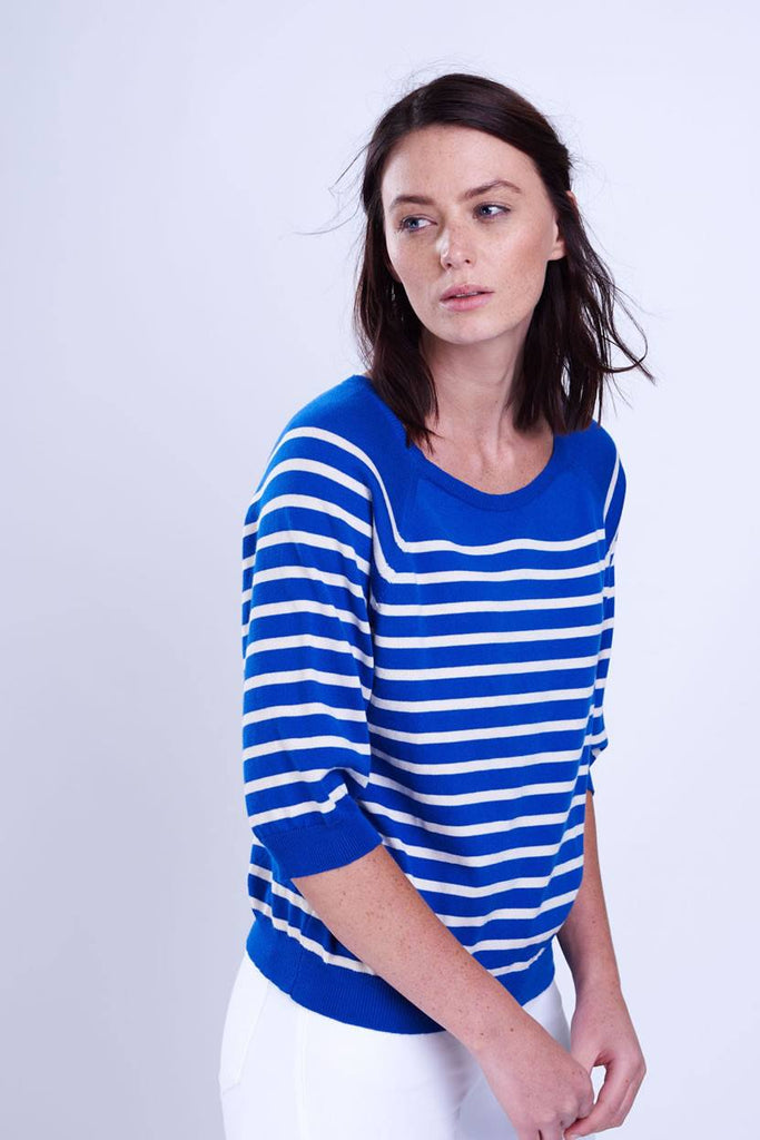 Cropped Striped Jumper - BIBICO