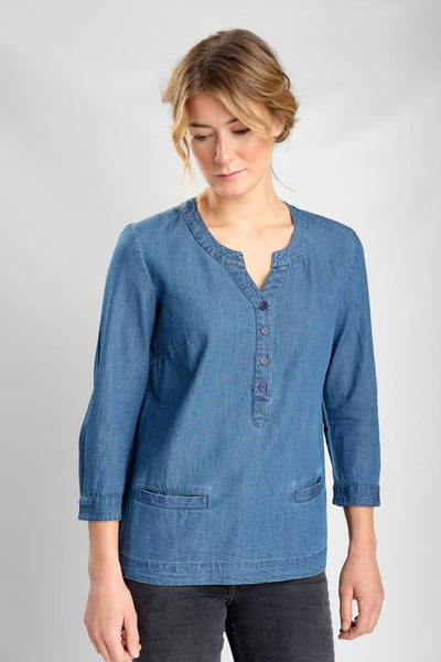 Denim Lana Boxy Top - BIBICO