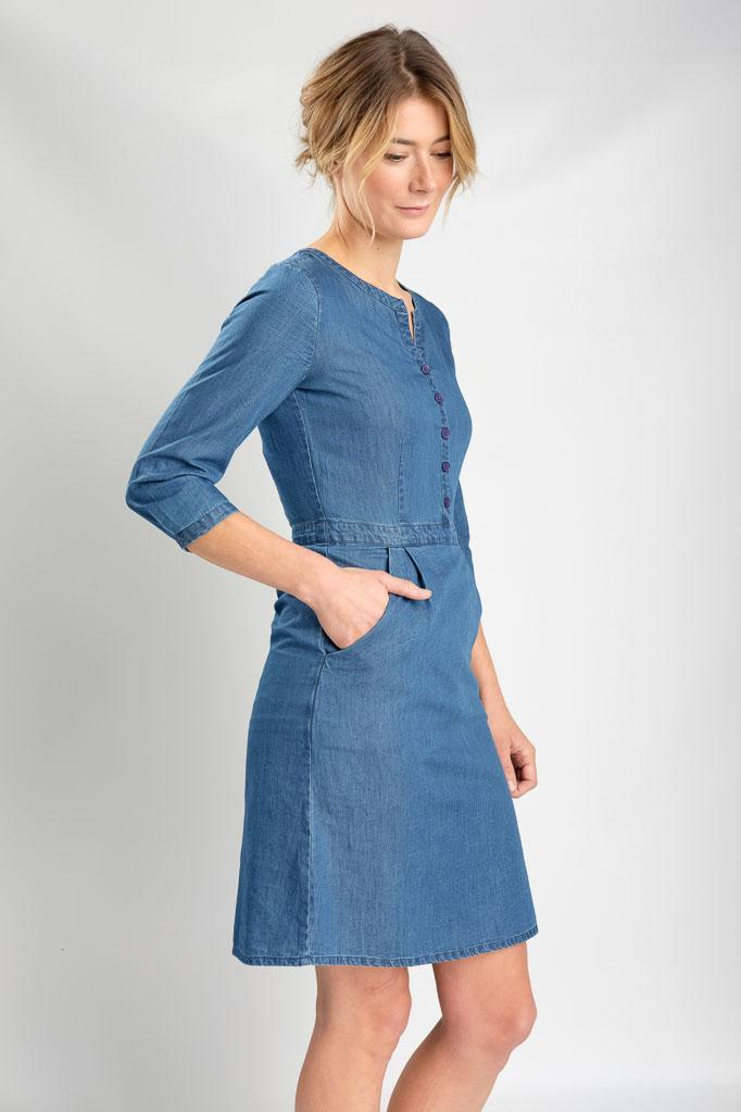 Denim Margot Casual Dress - BIBICO