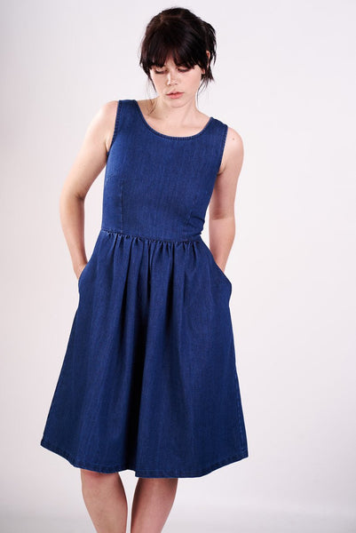 Denim Sleeveless Dress - BIBICO