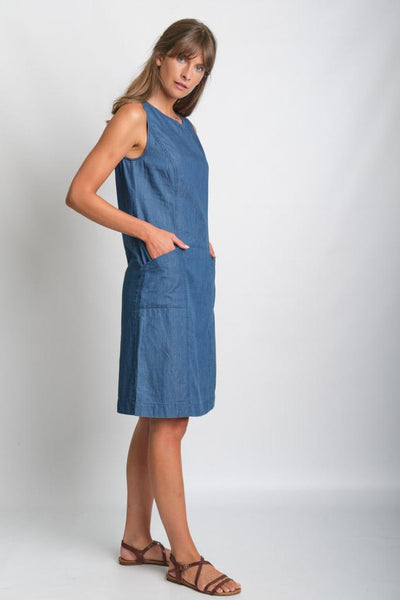 Denim Tara Shift Dress - BIBICO