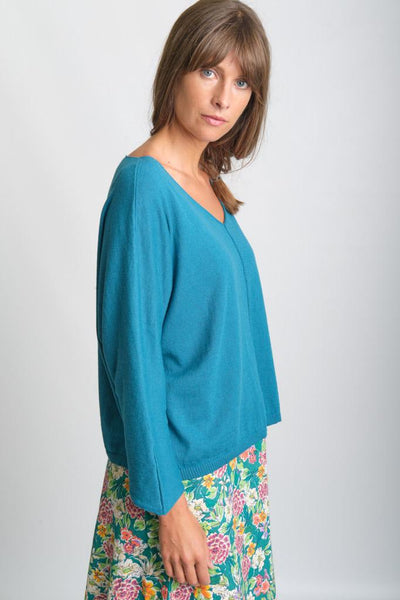 Elise V Neck Organic Cotton Jumper - BIBICO