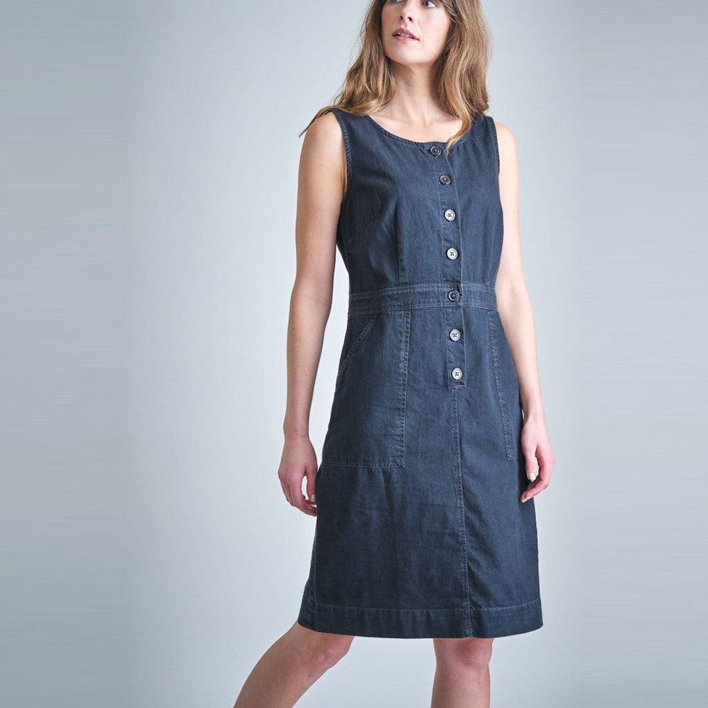 Elodie Denim Pinafore Dress Bibico