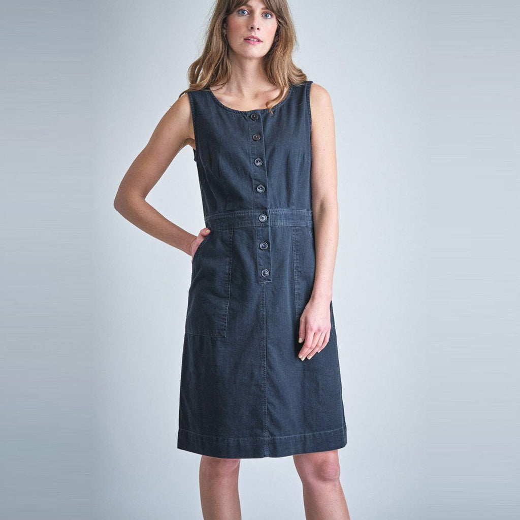 Elodie Denim Pinafore Dress dress BIBICO
