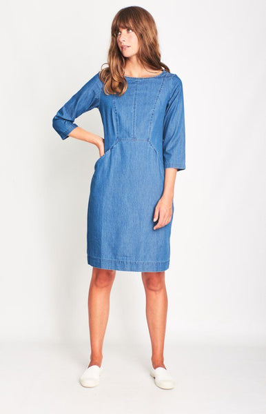 Emilia Denim Shift Dress - BIBICO