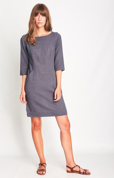 Emilia Linen Shift Dress - BIBICO