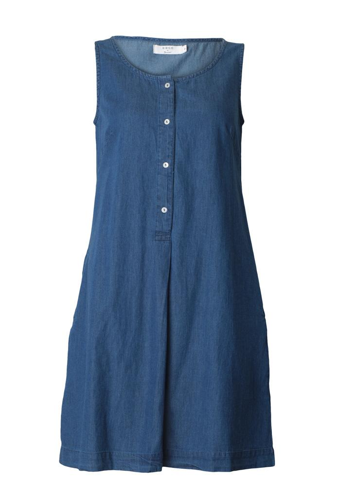 Erine Sleeveless Denim Dress - BIBICO