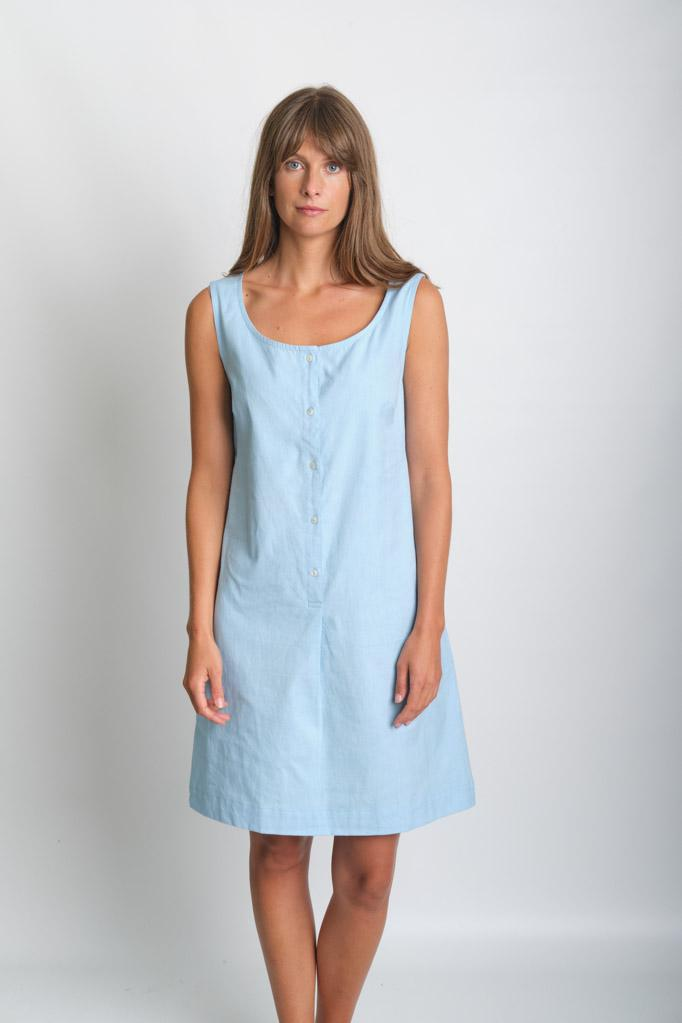 Erine Sleeveless Linen Dress - BIBICO