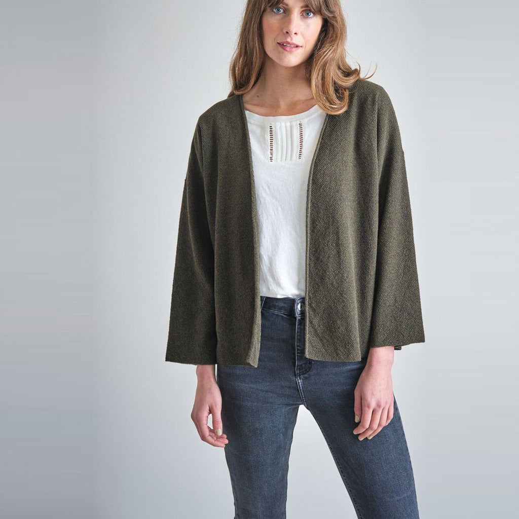 Eva Textured Wool Cardigan Bibico