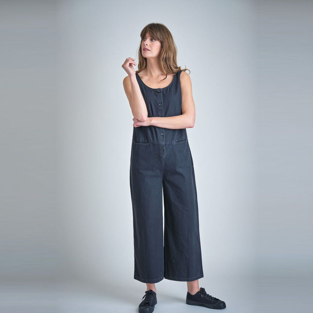 Evelyn Black Denim Jumpsuit dress BIBICO