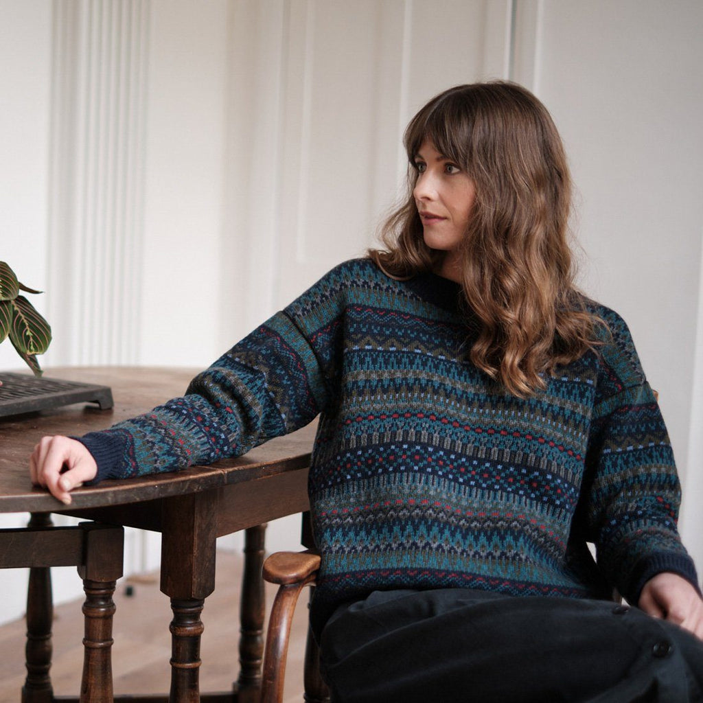Eyre Fair isle Wool Jumper knitwear bibico
