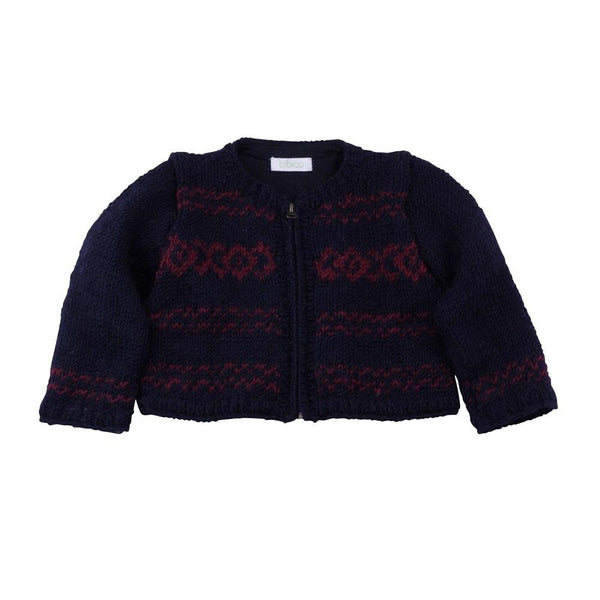 Fair Isle Zipped Cardigan - BIBICO