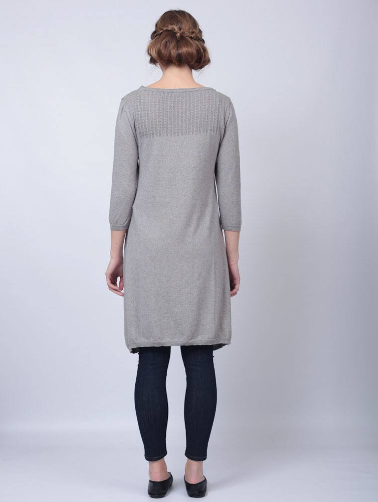 Fine Knit Grey Knitted Dress