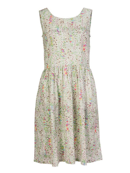 Floral Print Sleeveless Dress - BIBICO
