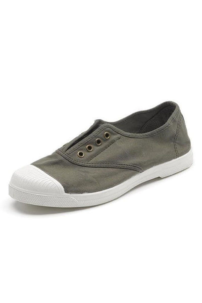 Forest Green Cotton Plimsolls - BIBICO