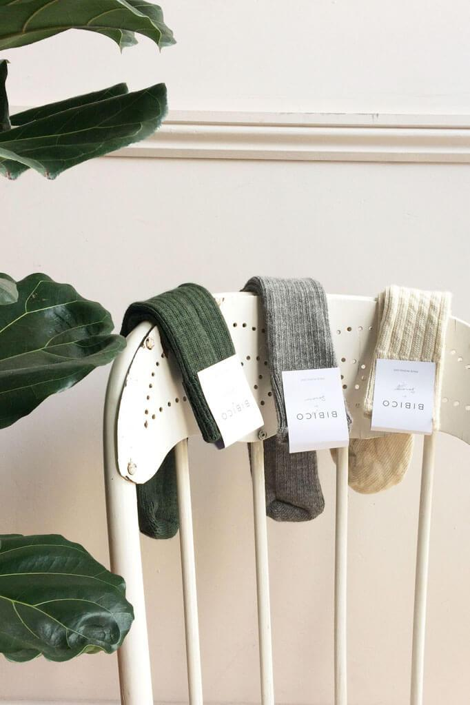 Green Alpaca Walking Socks - BIBICO