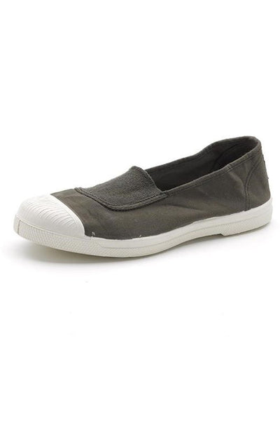 Green cotton slip on plimsolls - BIBICO