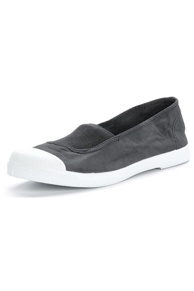 Grey cotton slip on plimsolls - BIBICO