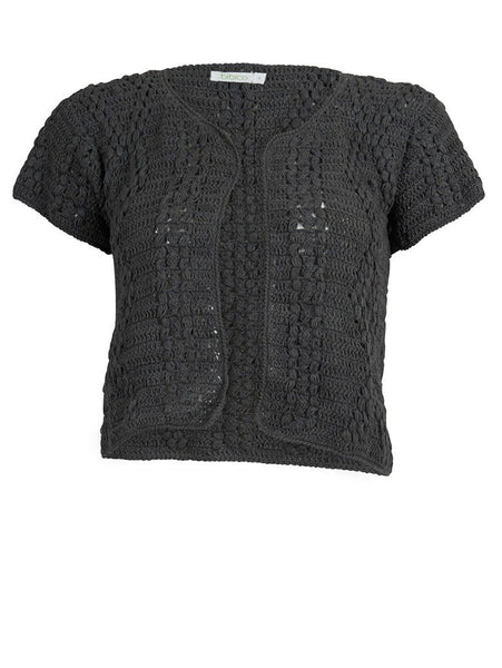 Grey Cropped Cardigan - BIBICO