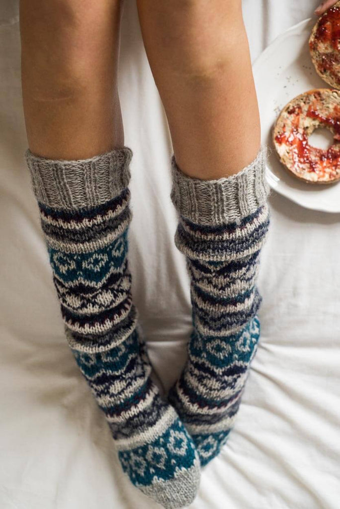 Hand Knitted Boot Socks - BIBICO