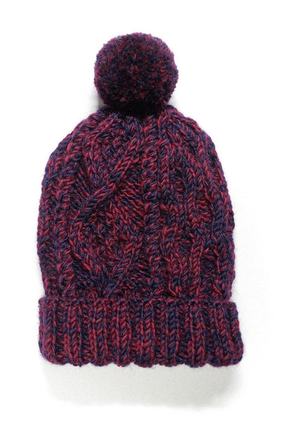 Hand Knitted Wool Bobble Hat - BIBICO